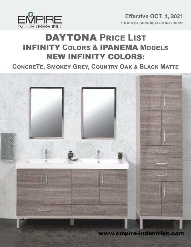 Daytona + Infinity Price Book